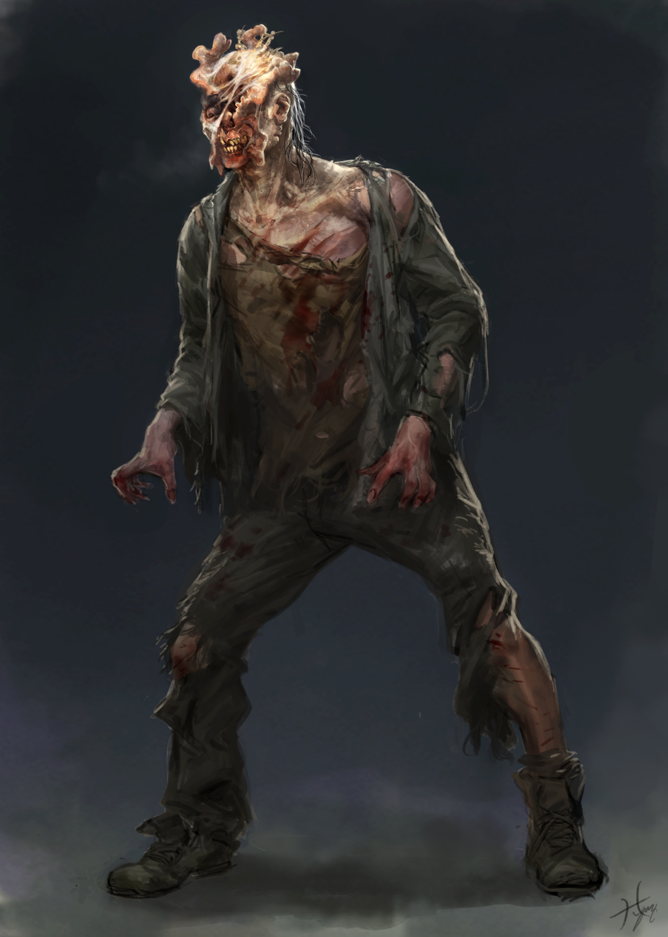 Infected man