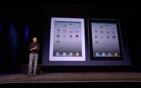 Jobs introduces the iPad 2.  Imagine an Apple without the iPad, the iPhone, or the MacBook.