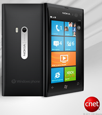 CNET's concept art of the 'Sea Ray' Nokia-made Windows Phone.