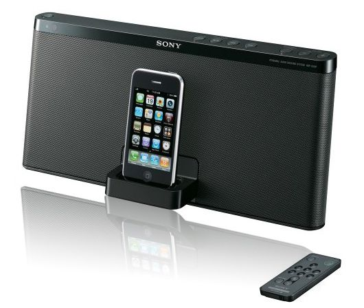 The Sony RDP-X50iPBLK offers impressive sound from your iPod or iPhone.