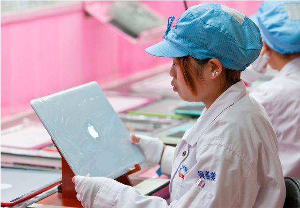 Assembly line of Apple products
