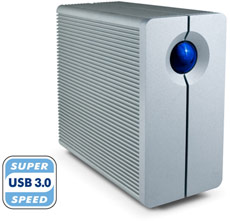 The first USB 3.0 RAID external hard drive from Lacie.