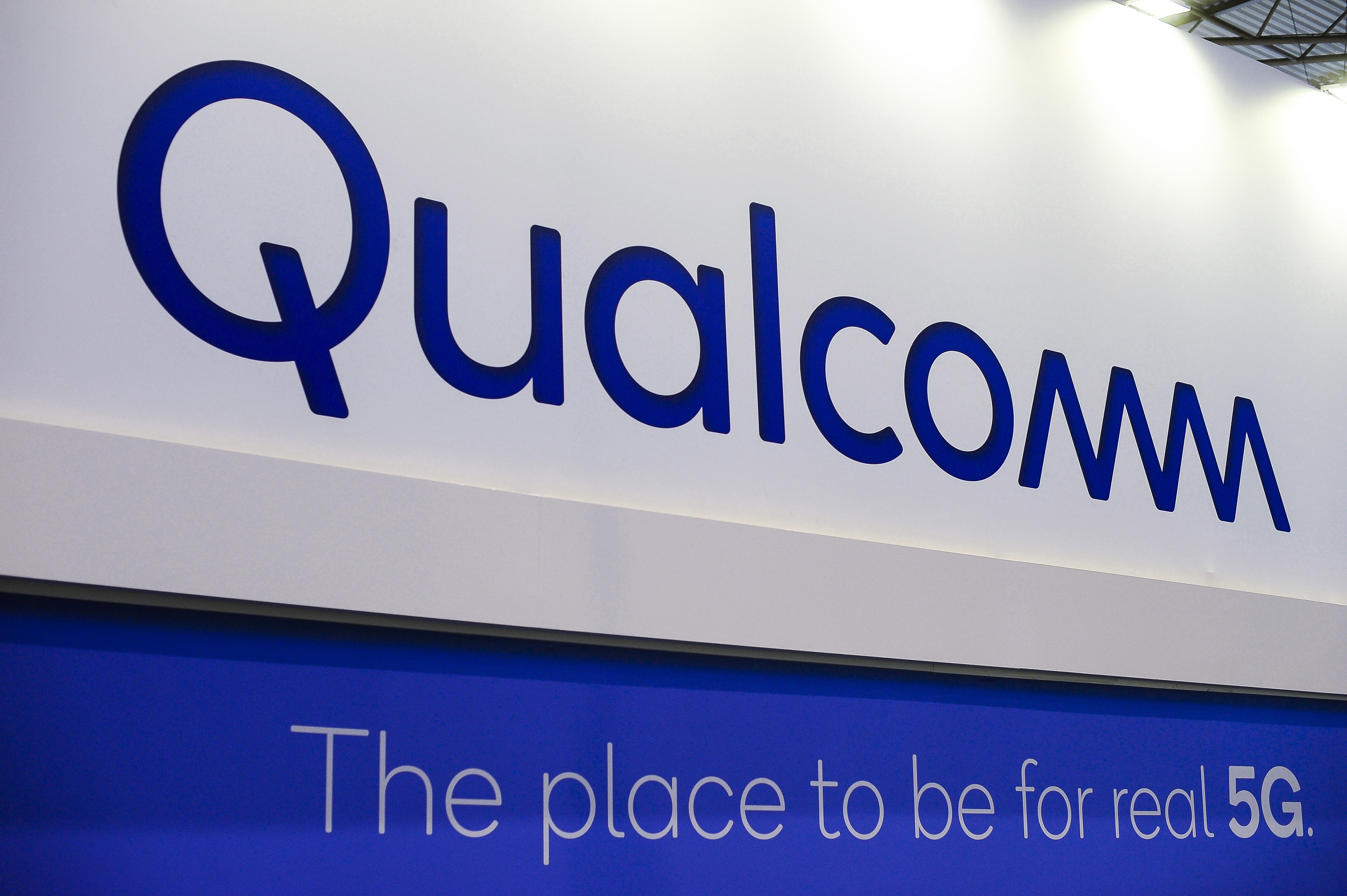 Qualcomm 5G sign at Mobile World Congress 2018