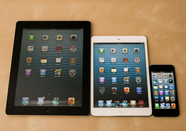 4th-gen iPad, iPad Mini, and iPhone 5.  Both the iPad 4 and iPhone 5 use Apple's new A6 chip, which delivers jaw-dropping raw performance for a mobile device.