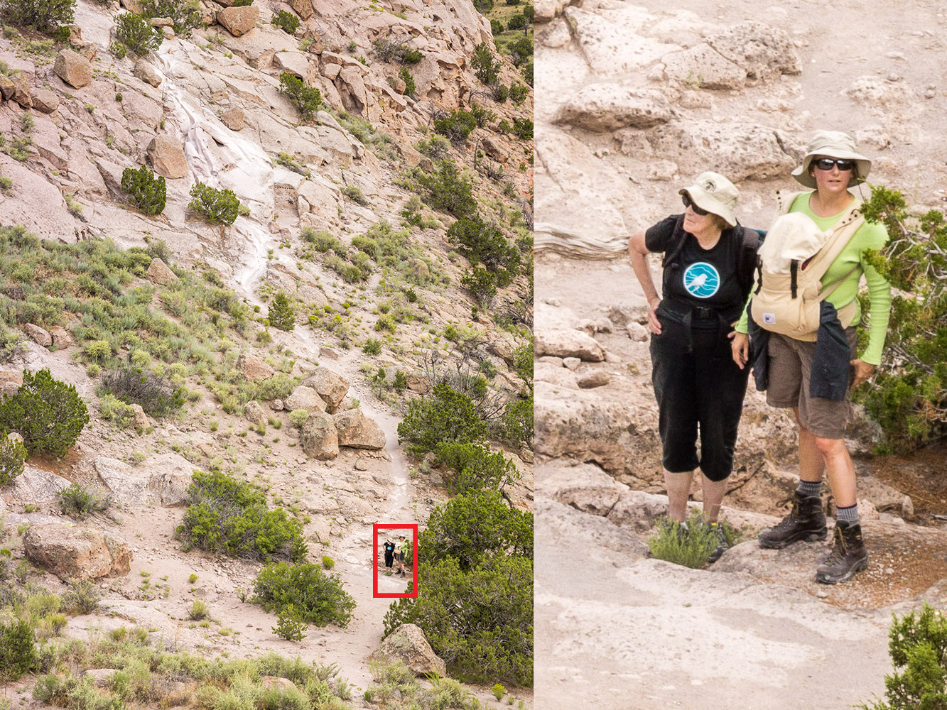 The red box in the image at left is shown at 100 percent magnification at right. The 10,328x7,760 resolution of the IQ3 captures an immense amount of detail, enough to crop in on photos when necessary with plenty of pixels still available for many publishing situations.