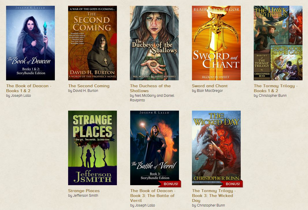 The Indie Fantasy Bundle includes eight complete novels, plus two more if you pay at least $10.