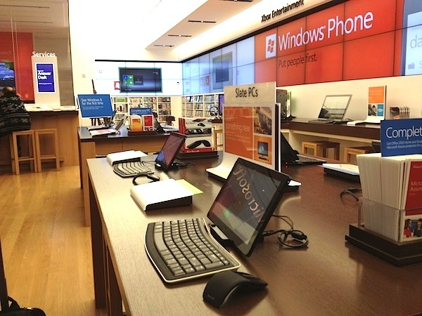 Microsoft Store in Century City, Calif.  Finding a local Microsoft Store will be a challenge for hands-on consumers looking to try out the Surface tablet