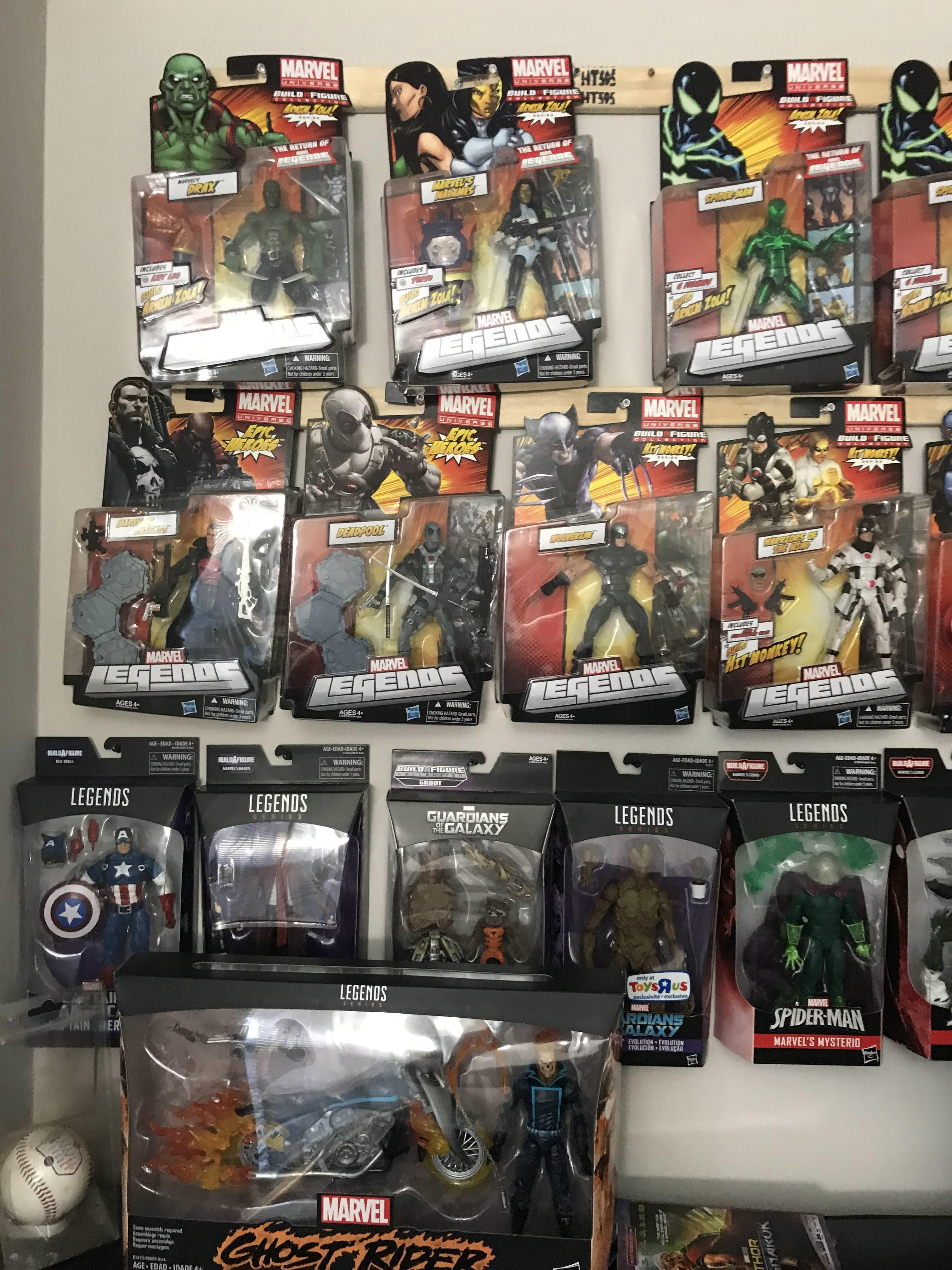 Marvel action figure collection that keeps on growing... (1 of 4)
