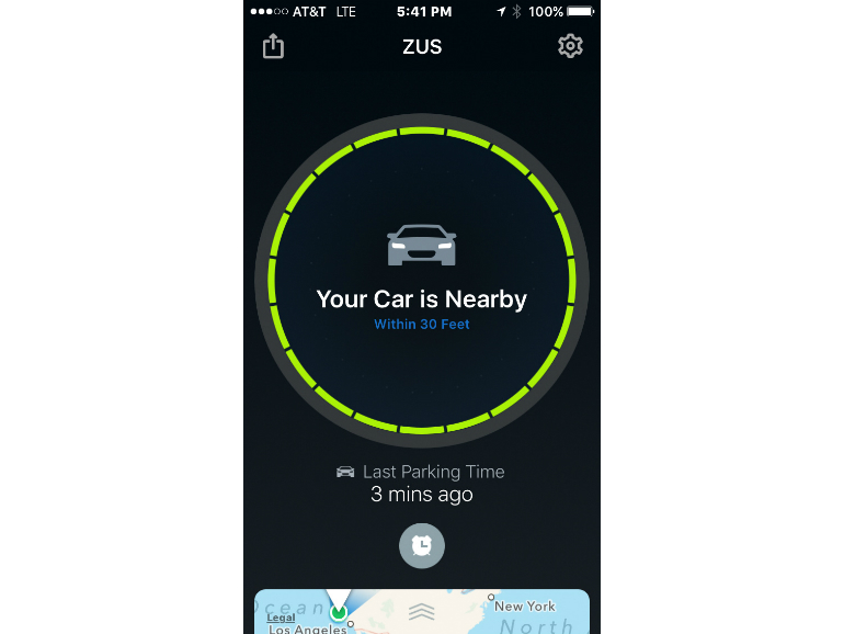 ZUS USB car finder and smart charger