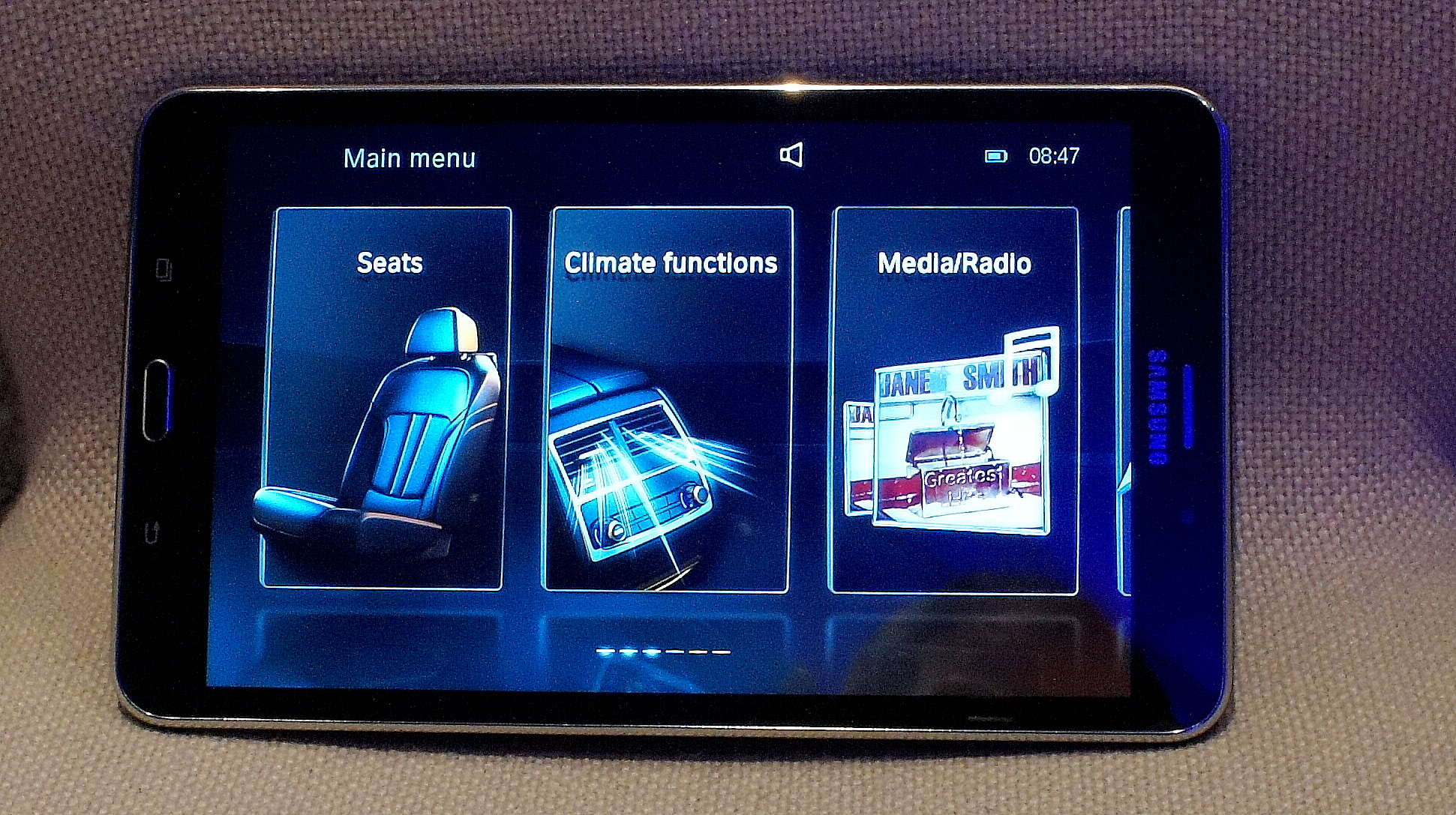 BMW Touch Command tablet