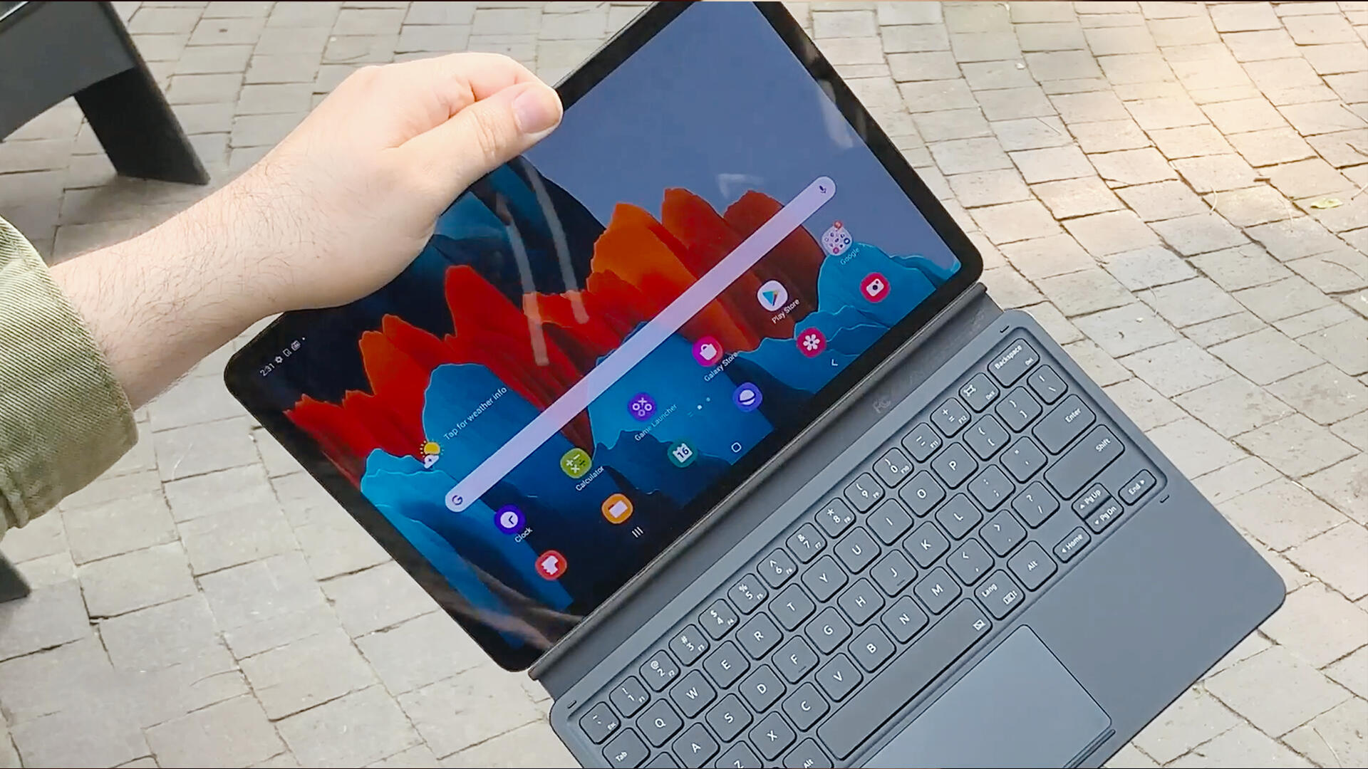 Video: Samsung's Galaxy Tab S7 tablet wants you to work and play