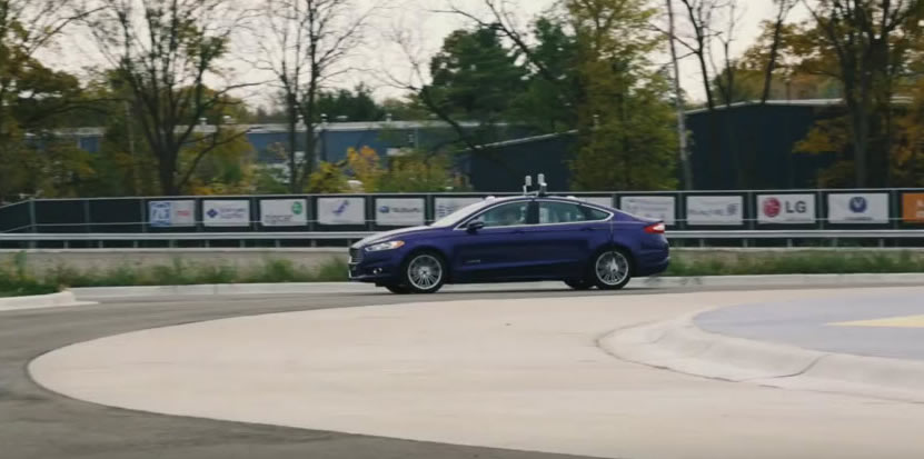 Ford testing self-driving cars at MCity in Michigan