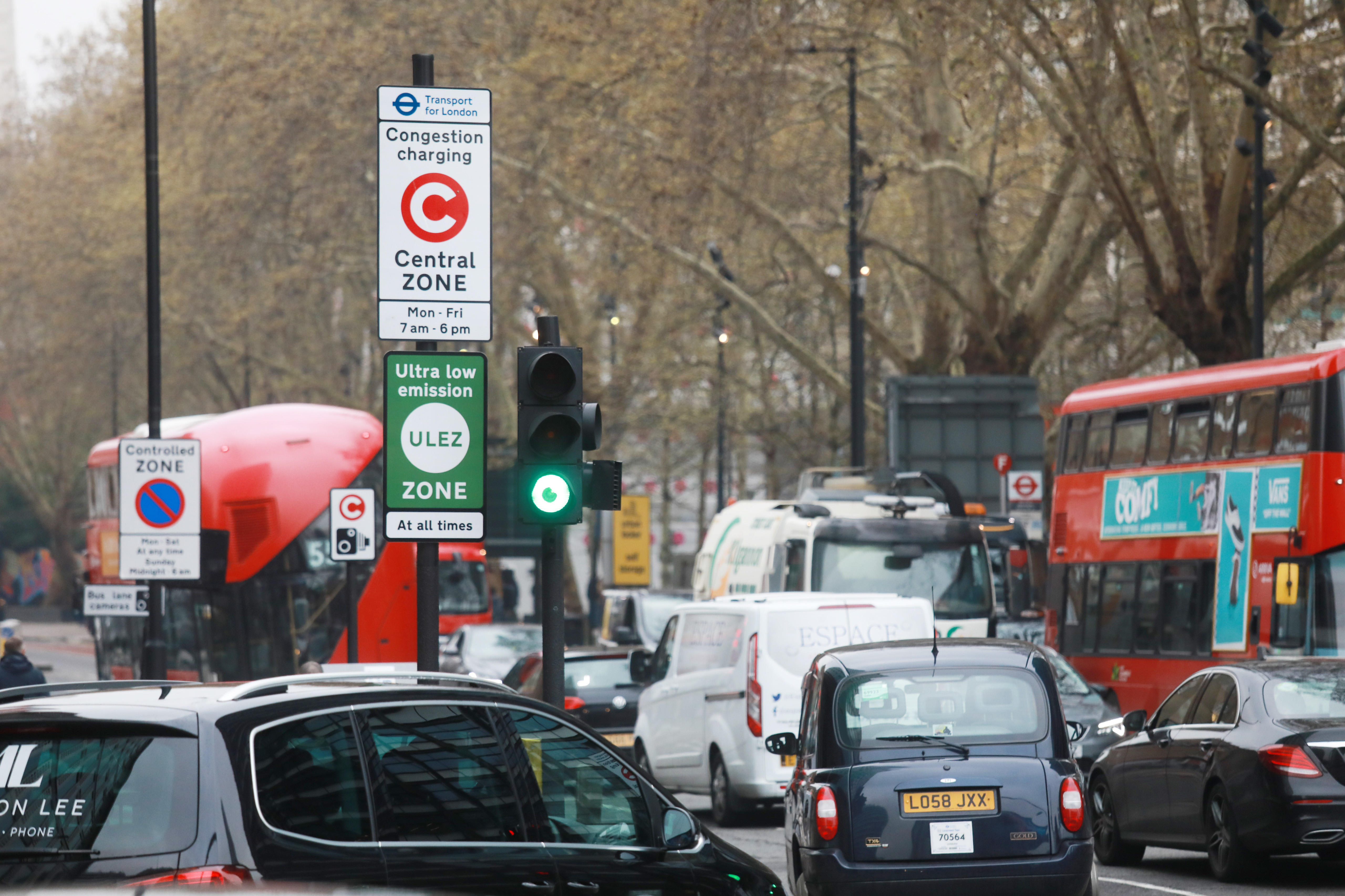 First Day Of The Ultra Low Emission Zone