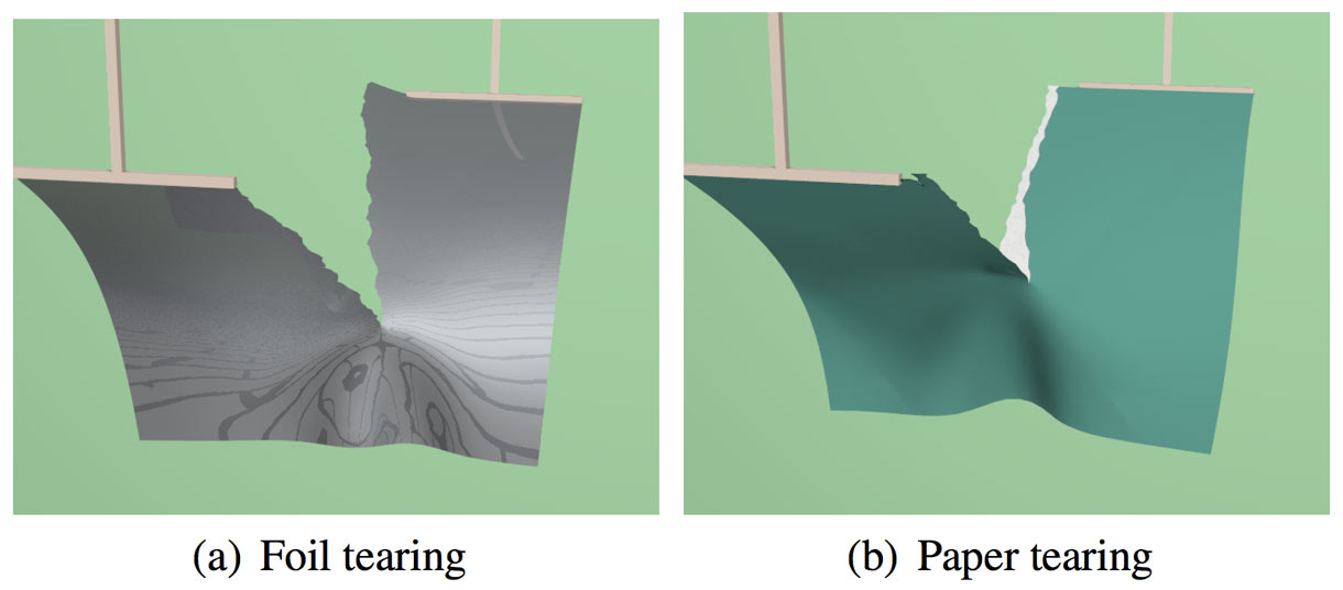 Ohio State University researchers bring realism to tearing paper and foil in work to be presented at the Siggraph conference.