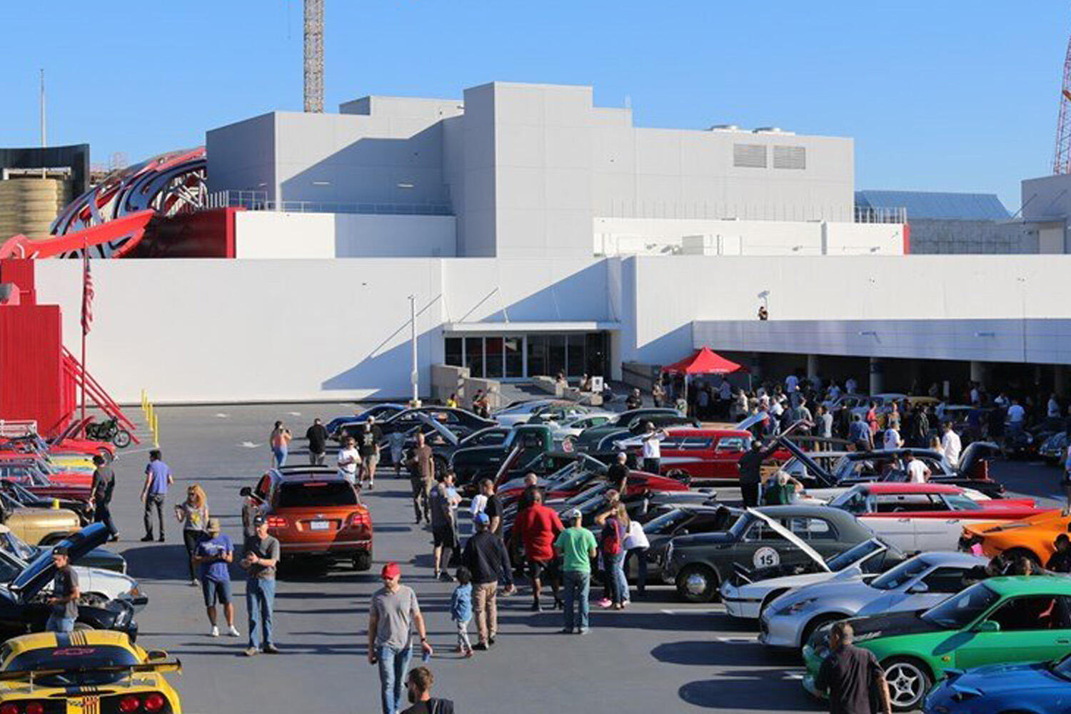 Cars and Coffee at Petersen Automotive Museum
