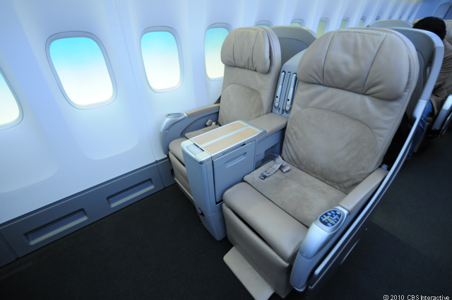 Smaller business class seats