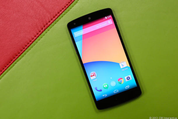 Google's Nexus 5 will get a shot of Android 4.4.1.