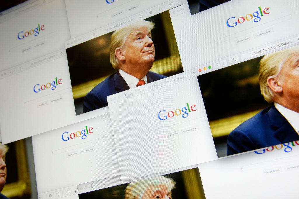 Trump Accuses Google of rigging search results