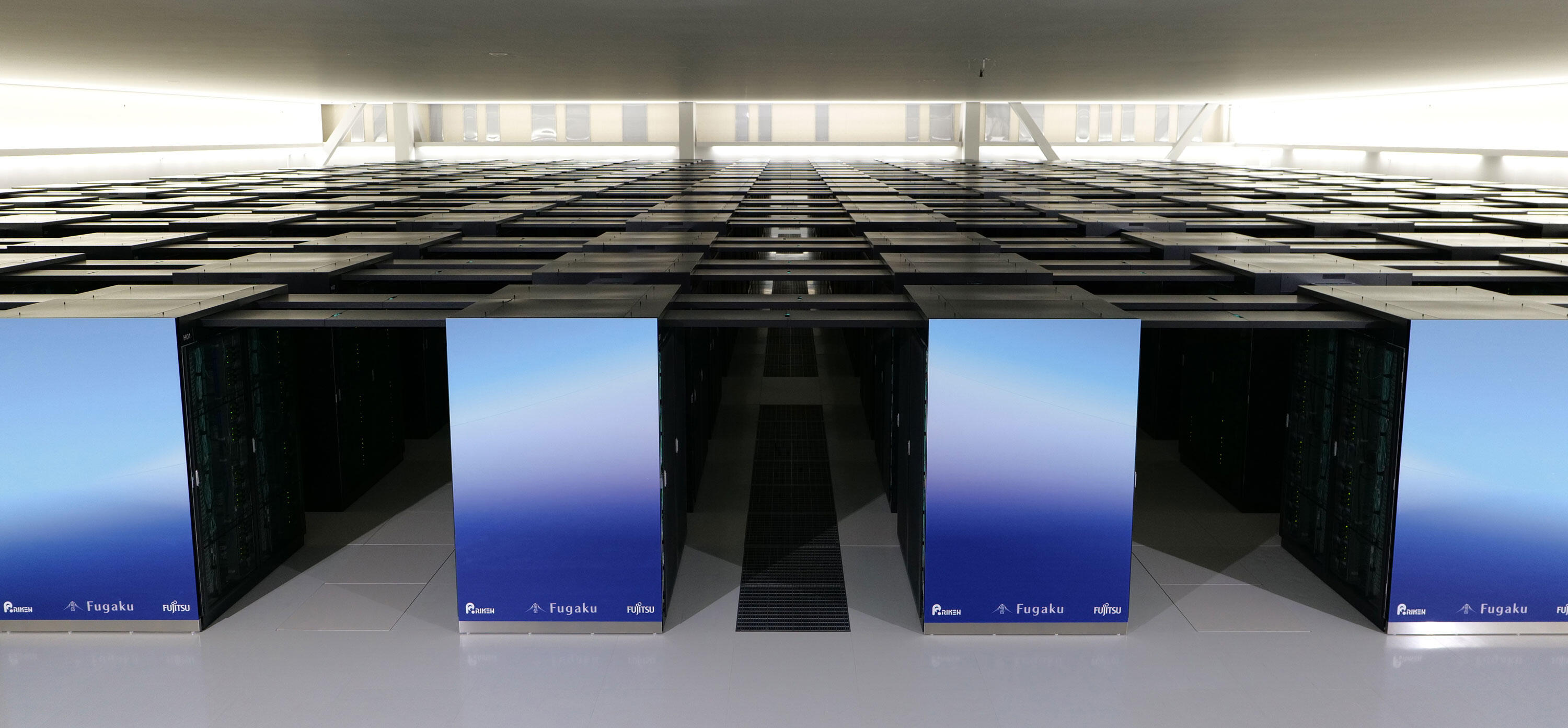 The Fugaku supercomputer at Japan's RIKEN center, named the world's fastest machine in 2020, uses Fujitsu-designed Arm processors.