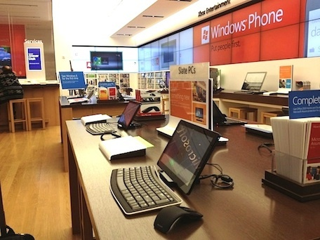 There are plenty of tablets on display at the Microsoft store, and even an Intel-based Samsung tablet running the latest version of Windows 8 consumer preview.