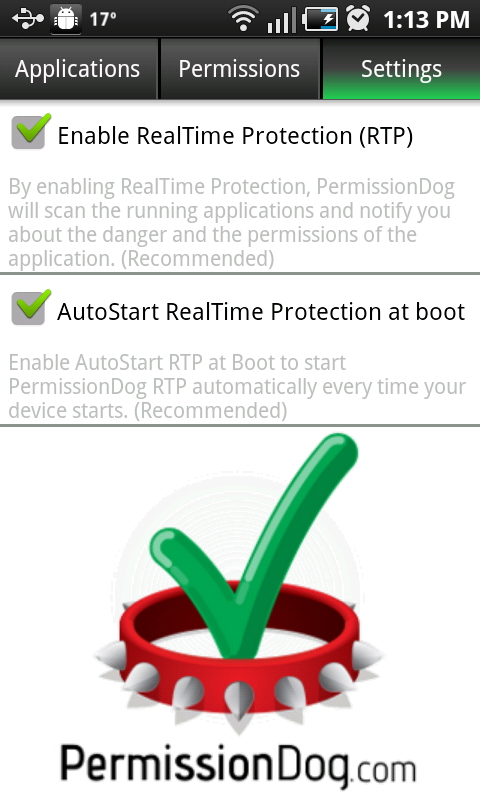 PermissionDog real-time monitoring options