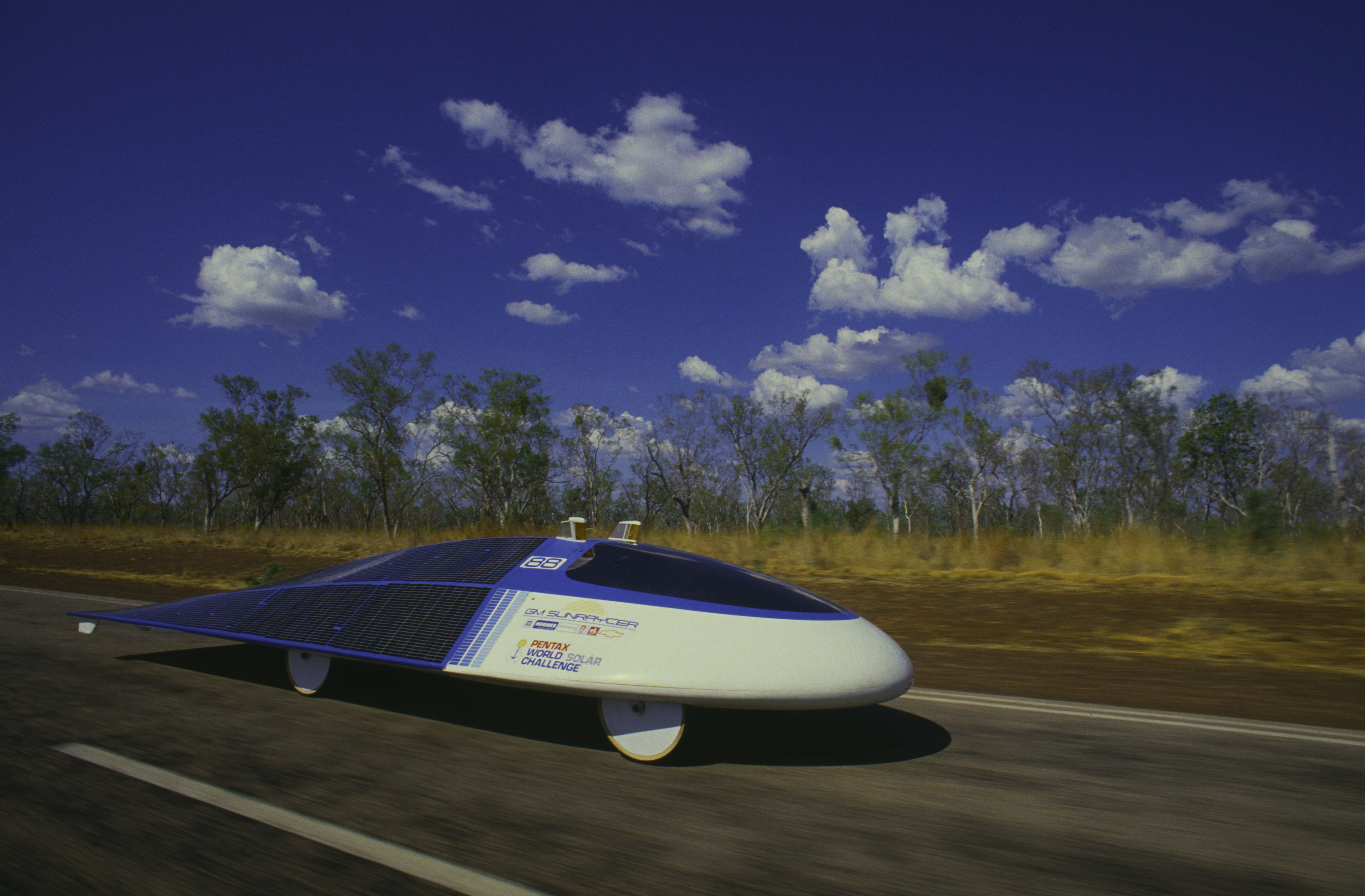 General Motors' first solar-powered car