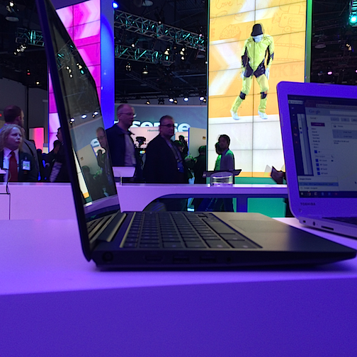 Dell's Chromebook was on display at the Intel booth.