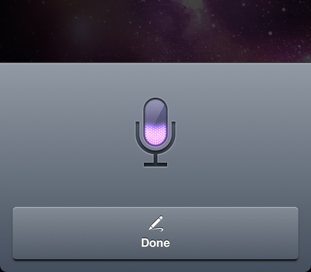 Siri's dictation feature on the iPhone 4S.