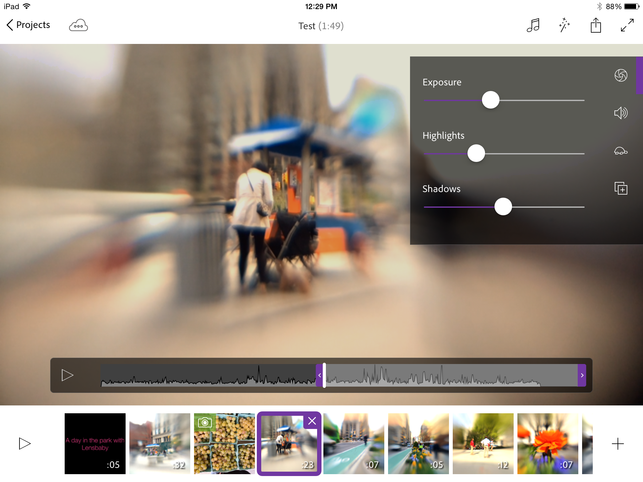 Adobe Premiere Clip delivers a trim set of video-editing features