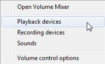 Switching your output to a USB audio device in Windows.