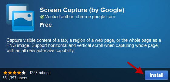 Install Screen Capture by Google