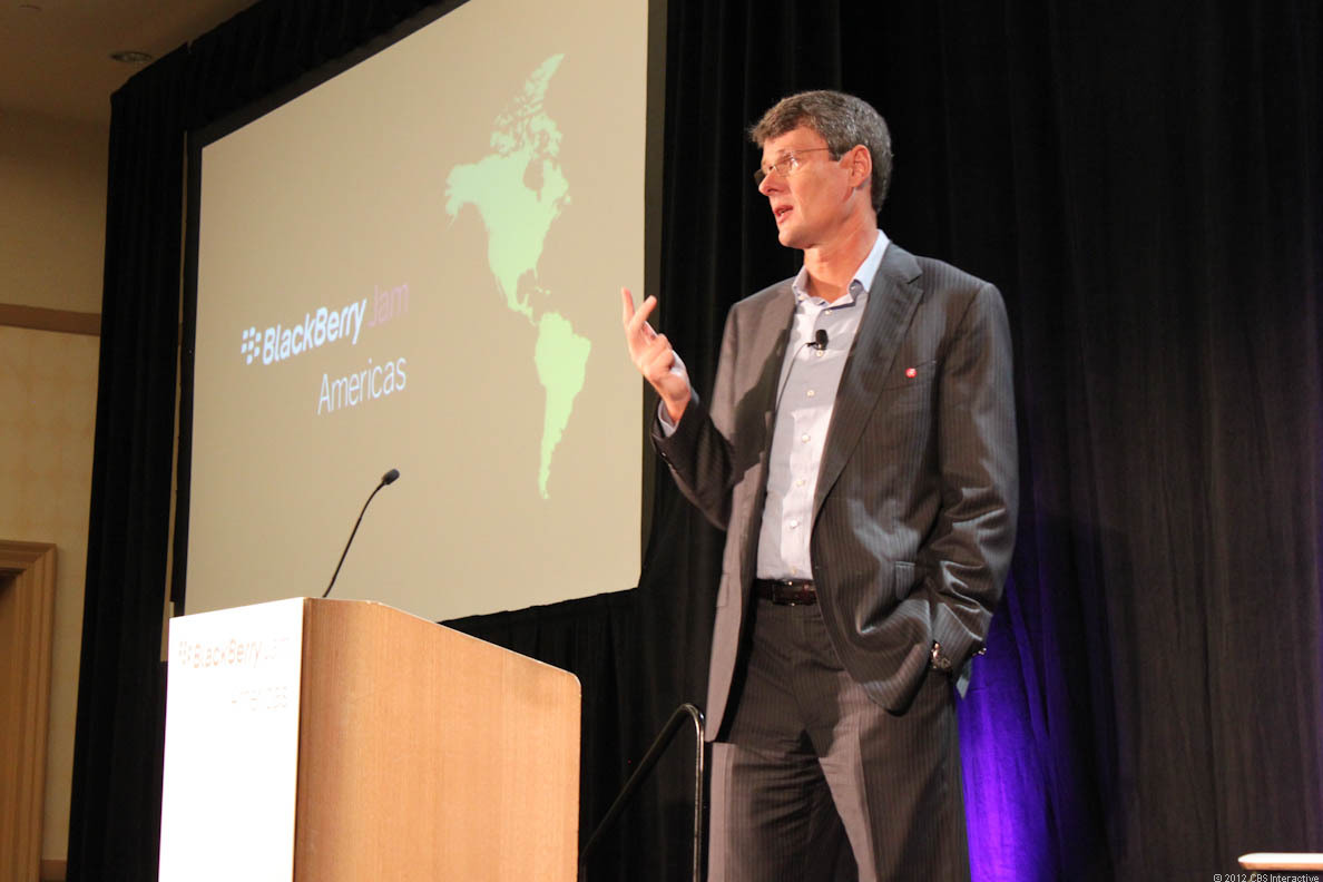 RIM CEO Thorstein Heins says BlackBerry is about to mount its comeback.