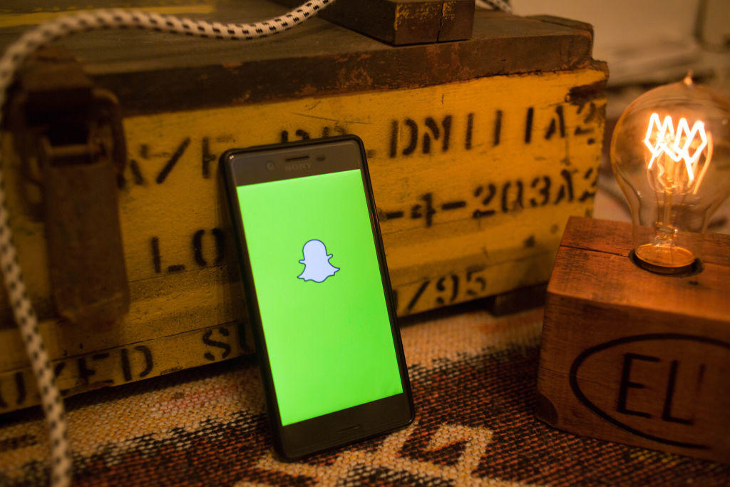 The SnapChat application seen displayed on a Sony smartphone