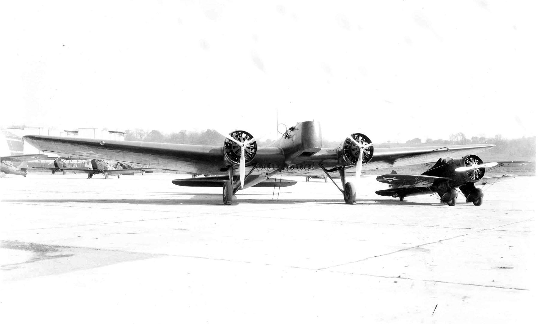 Boeing Y1B-9 and P-26
