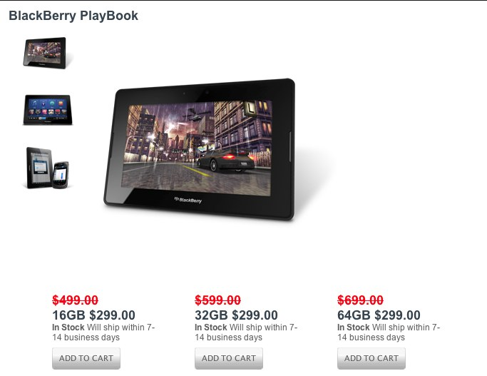 RIM's BlackBerry PlayBook is now more affordable.