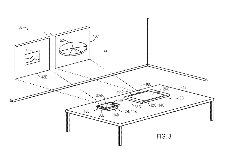 Apple's multidevice projector patent promises to blend screens from multiple devices, into one.