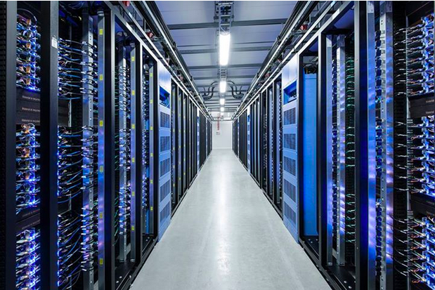One of Facebook's data centers. The social networking company is soon planning to fully support an encryption technology, called forward secrecy, that is believed to defeat even government spy agencies.