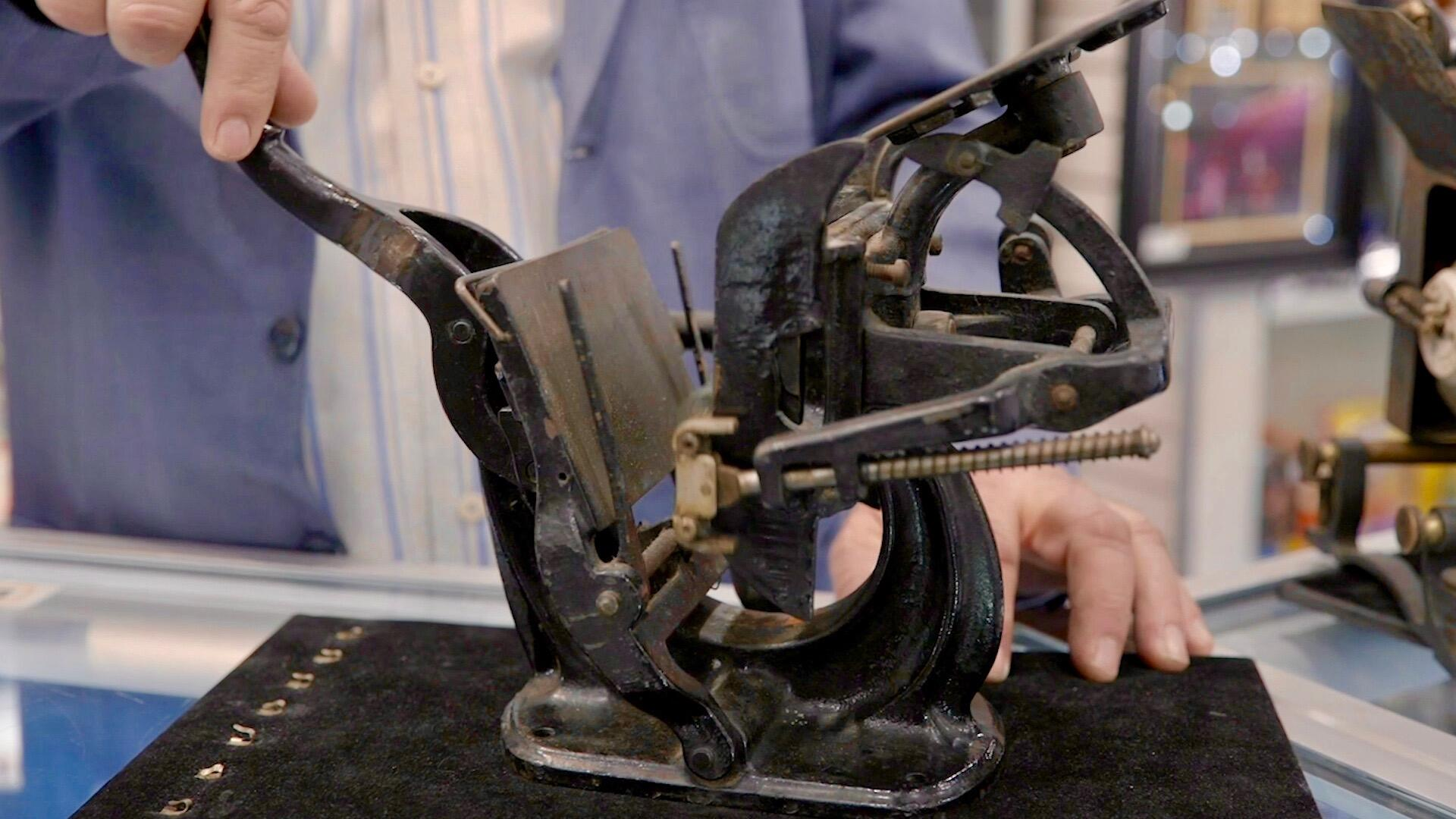 Cast iron printing press from the 1890s