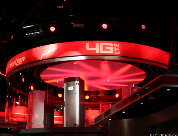 Verizon's imposing booth at CES 2012
