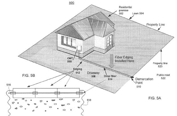 Google's patent application covers ideas to lower the cost of bringing high-speed fiber-optic networks to houses.