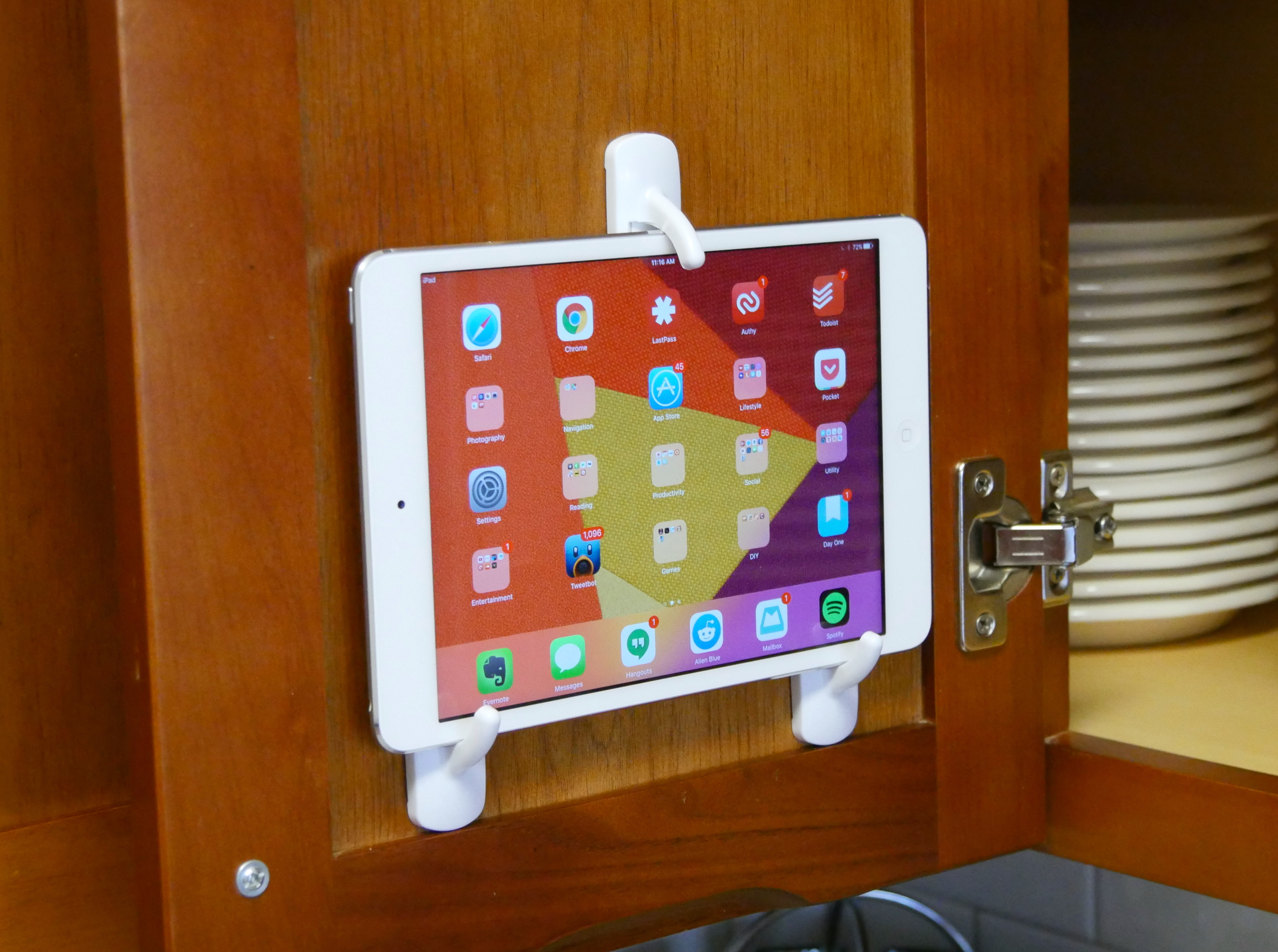 Mount tablets around the house