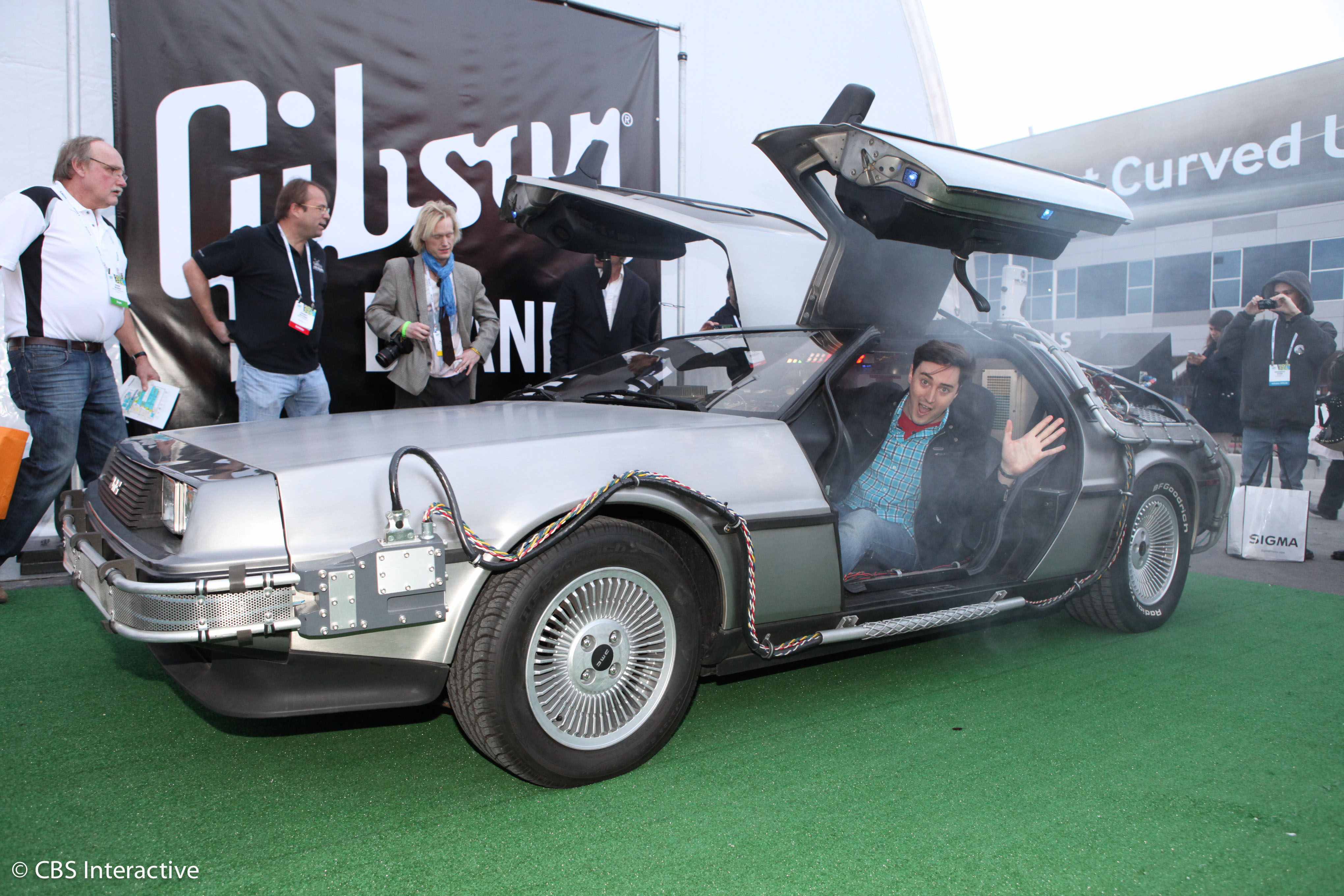 Coolest entrance at CES 2014? Doc Brown in his Delorean