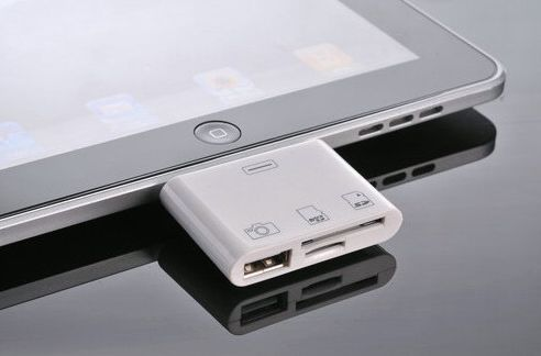 Why juggle two Apple dongles when the 3-in-1 iPad Camera Connection Kit provides three connectivity options in a single dongle?