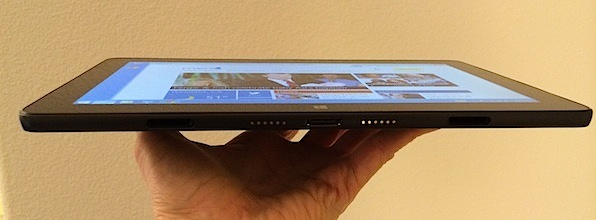 Despite having a bigger display than the Surface Pro 2, the Venue 11 Pro is thinner and lighter than Microsoft's tablet.