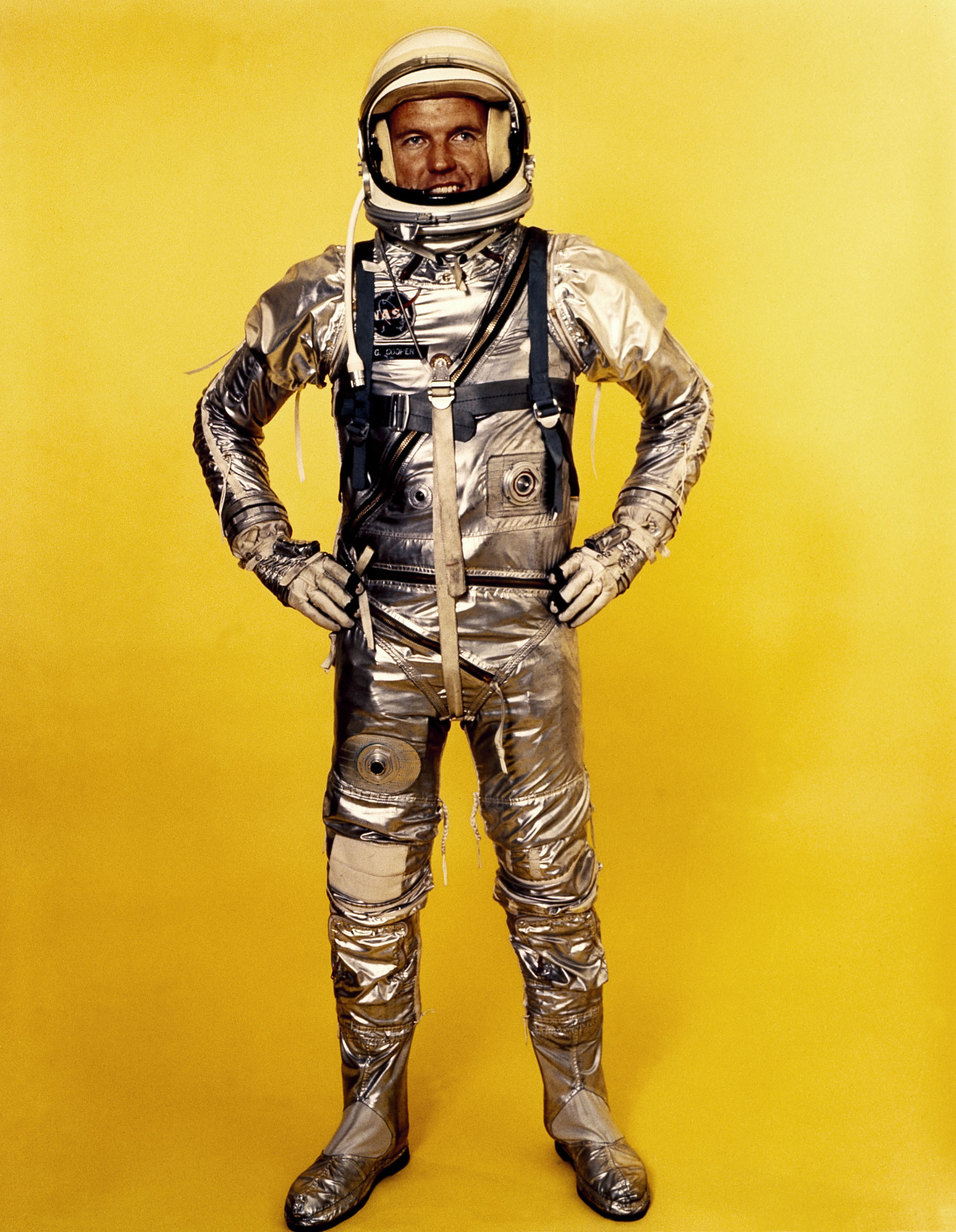A converted high-altitude aircraft pressure suit