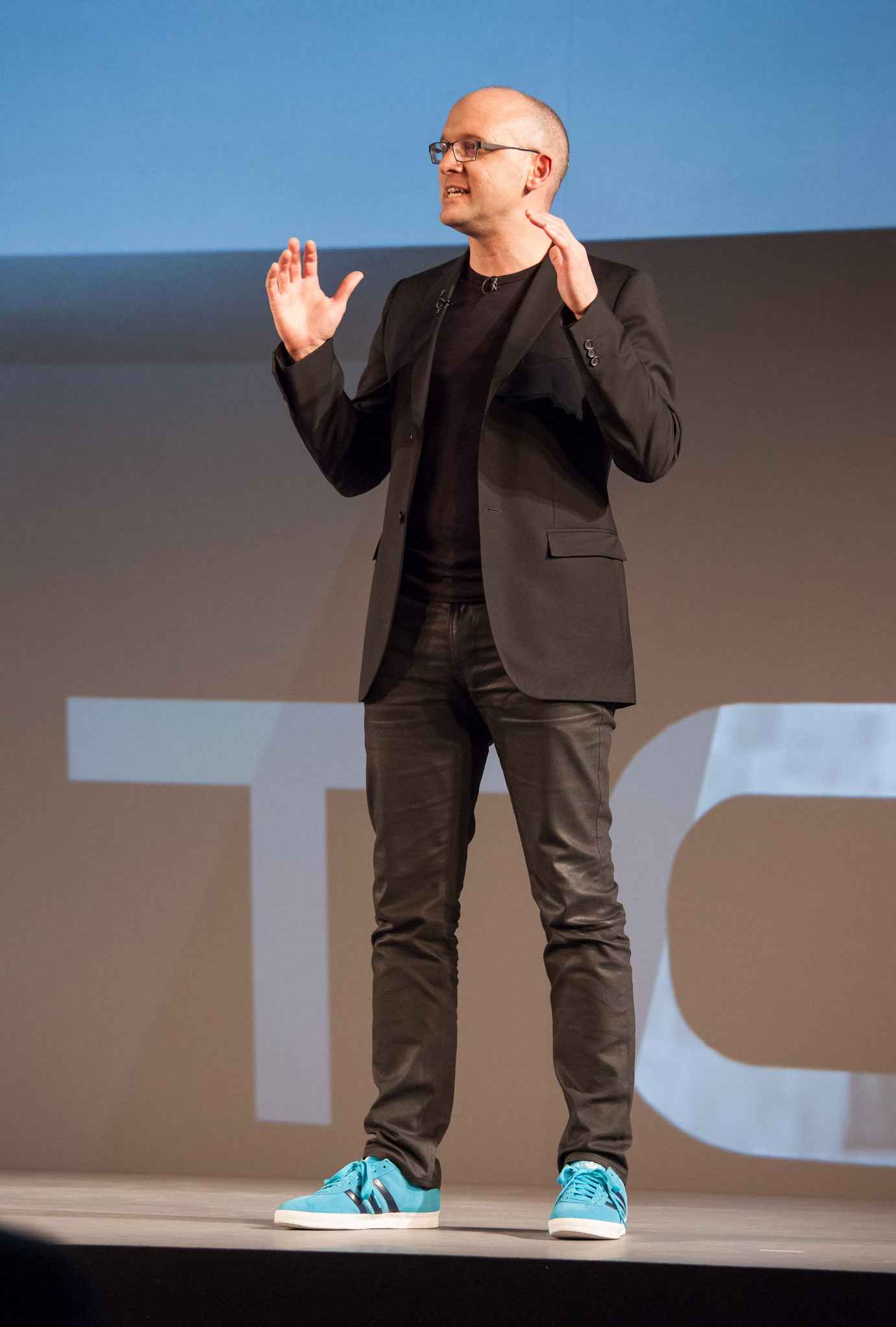 HTC design chief Scott Croyle touts the HTC One line of phones at Mobile World Congress in Barcelona, Spain.
