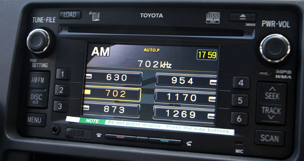 Affected Toyota stereo