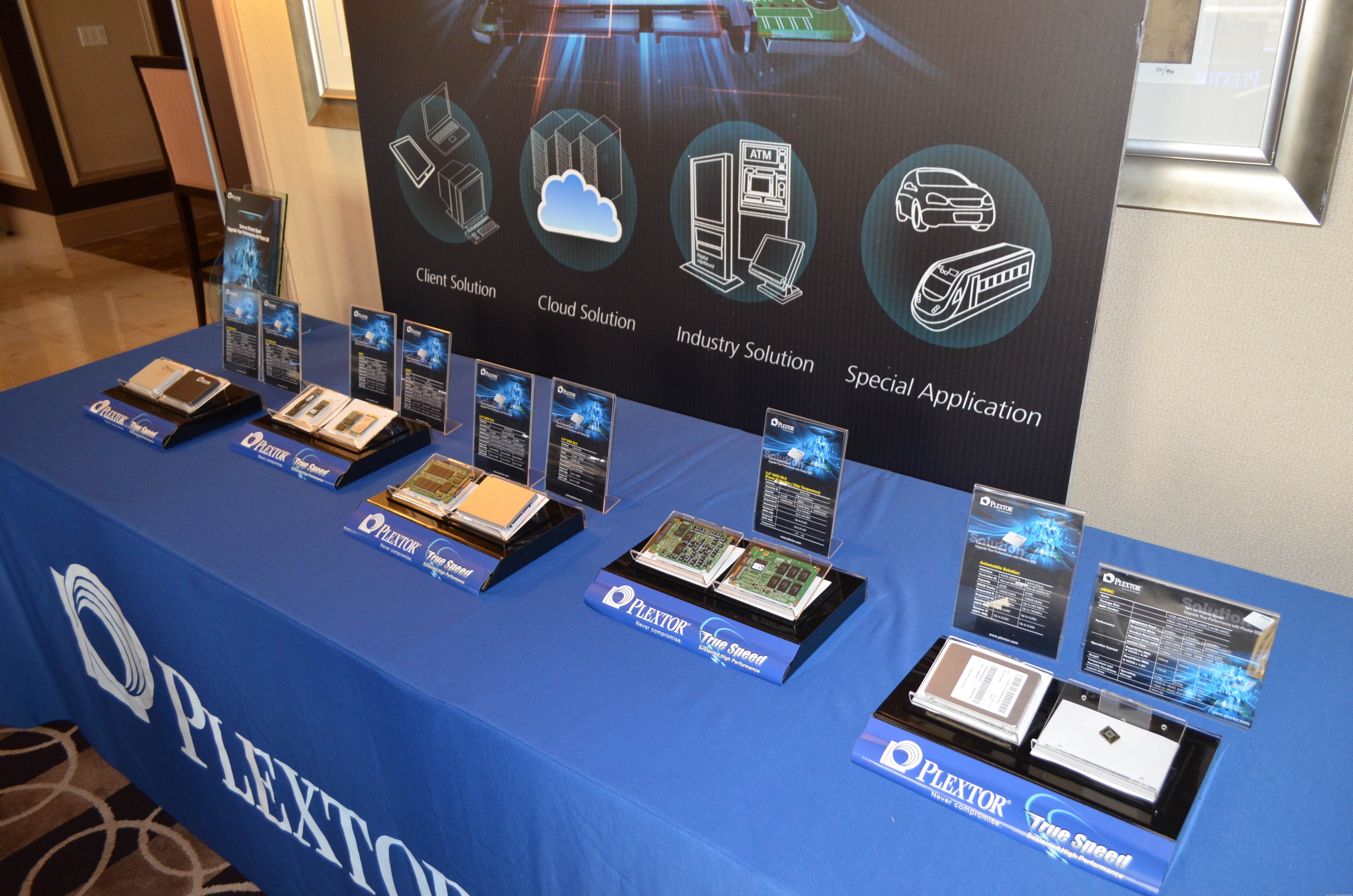Plextor SSDs being showcased at CES 2013.