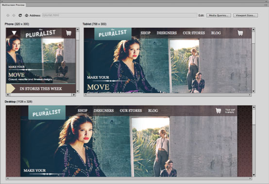 Dreamweaver CS6 gets new abilities for Web page layouts that can be set to fluidly adapt to different screen sizes.