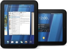 WebOS in action on the HP TouchPad.